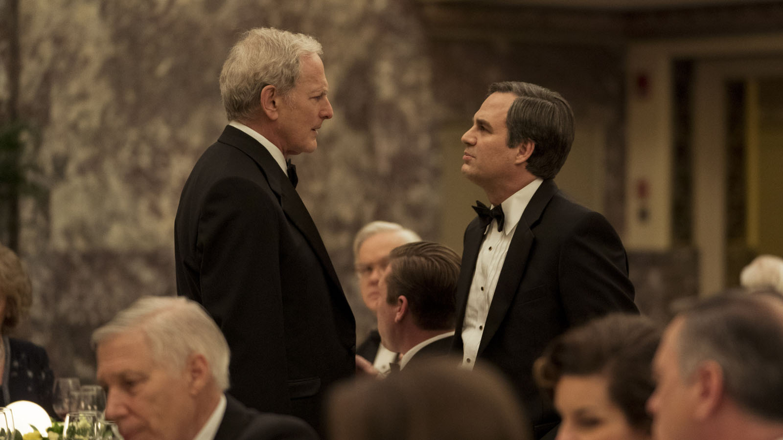 "Victor Garber (left) as ""Phil Donnelly"" and Mark Ruffalo (right)"